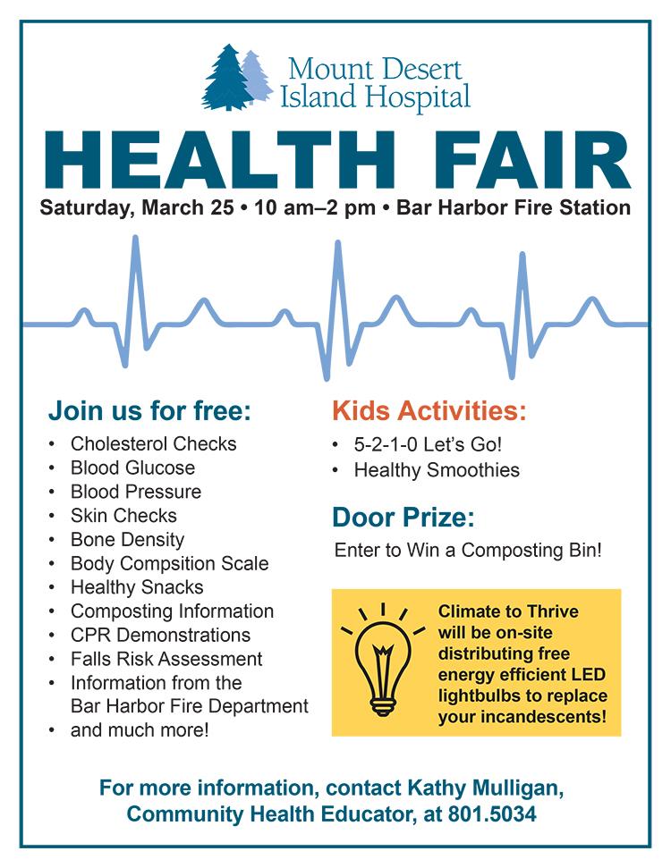 health fair flyer 2017